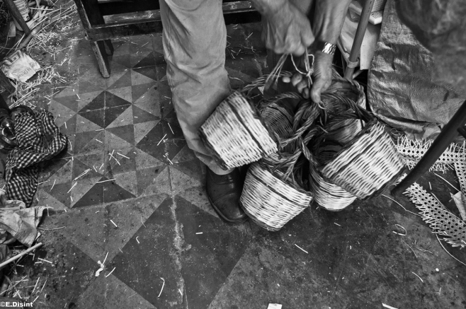 traditional twig and wicker baskets