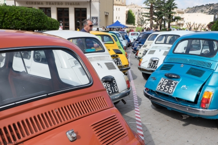 Basic, practical, small round and a bit bulky. Even if it disapeared from the street, the Fiat 500 is still a symbol of Italy and has its fan club and shows where collectionists show their models